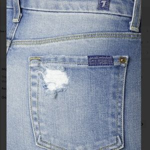 b293a085694b 7 For All Mankind Skirts - 7 FOR ALL MANKIND mid length destroyed jean skirt